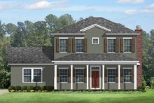 Architectural House Design - Colonial Exterior - Front Elevation Plan #1058-132