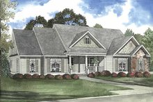Country Exterior - Front Elevation Plan #17-3207