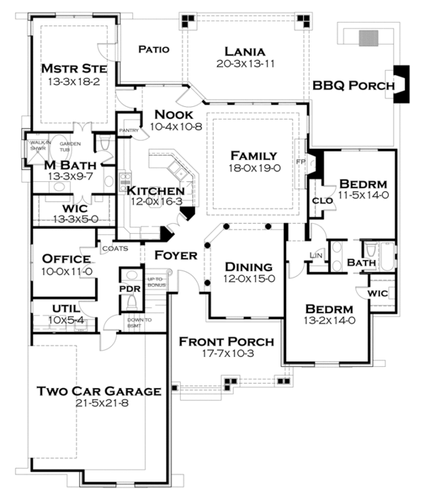 Dream House Plan - Bungalow Floor Plan - Main Floor Plan #120-245