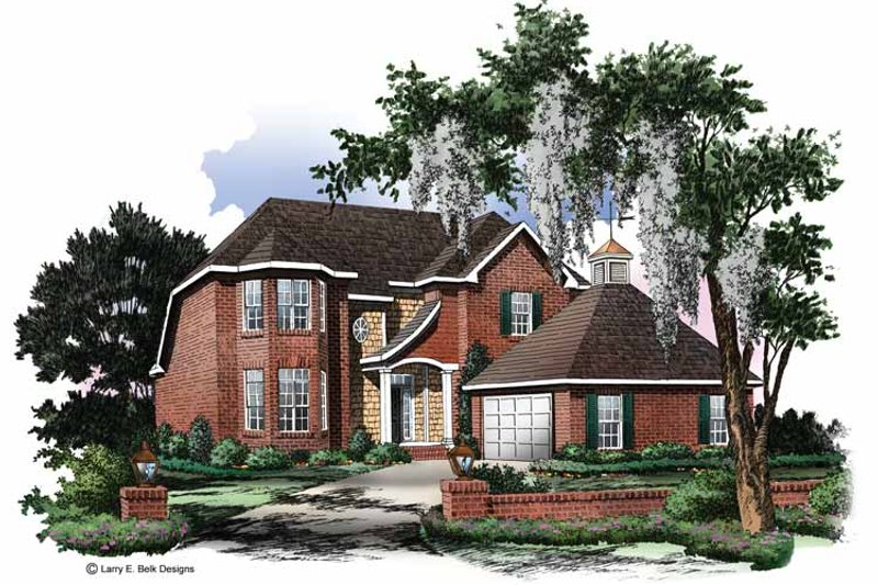 House Plan Design - Traditional Exterior - Front Elevation Plan #952-8