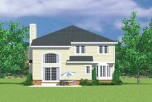 House Plan Design - Country Exterior - Rear Elevation Plan #72-1124