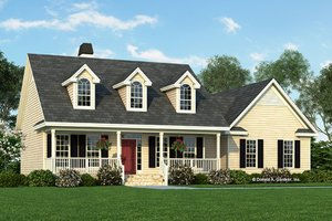Architectural House Design - Country Exterior - Front Elevation Plan #929-222