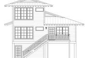 Beach Style House Plan - 4 Beds 4 Baths 2000 Sq/Ft Plan #932-274 Exterior - Rear Elevation