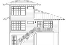 Beach Exterior - Rear Elevation Plan #932-274