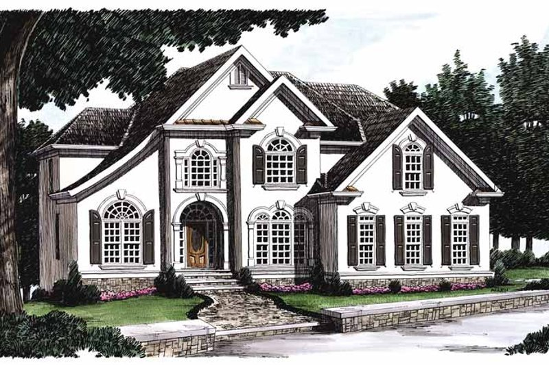 Mediterranean Exterior - Front Elevation Plan #927-141