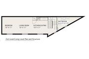 Modern Style House Plan - 1 Beds 1 Baths 705 Sq/Ft Plan #905-1 Floor Plan - Upper Floor Plan