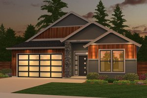 Ranch Exterior - Front Elevation Plan #943-50