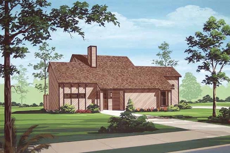 Traditional Exterior - Front Elevation Plan #45-418
