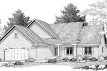 Traditional Exterior - Front Elevation Plan #70-595