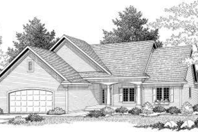 Traditional Exterior - Front Elevation Plan #70-595 - Houseplans.com