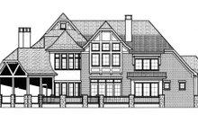 Tudor Exterior - Rear Elevation Plan #413-837