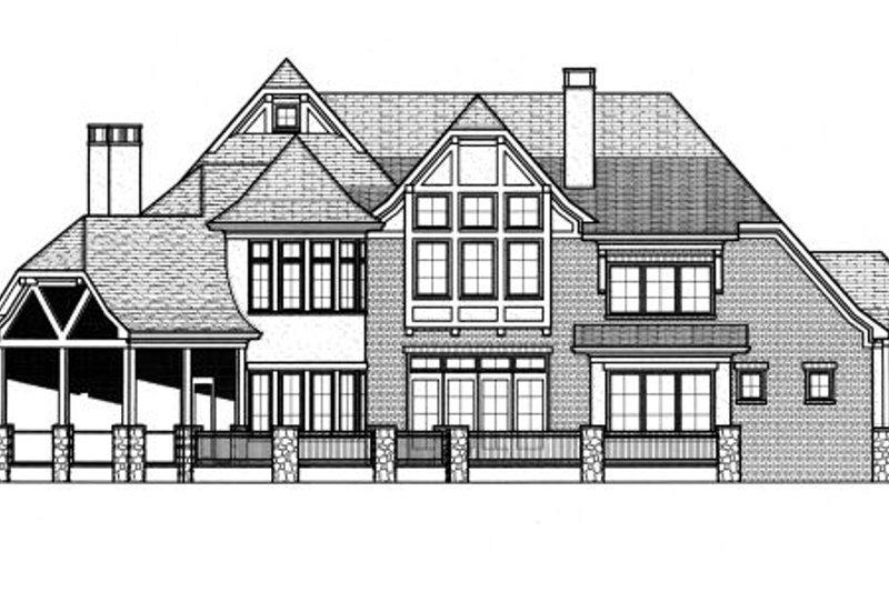 Tudor Exterior - Rear Elevation Plan #413-837 - Houseplans.com