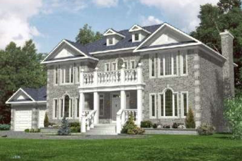 European Style House Plan - 4 Beds 2.5 Baths 3312 Sq/Ft Plan #138-124 Exterior - Front Elevation