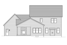 Colonial Exterior - Rear Elevation Plan #1010-49