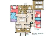 Southern Style House Plan - 3 Beds 2 Baths 1978 Sq/Ft Plan #63-405 Floor Plan - Main Floor