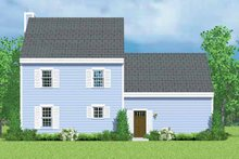 House Plan Design - Colonial Exterior - Rear Elevation Plan #72-1088