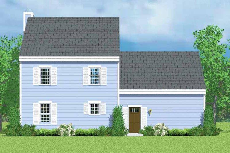House Blueprint - Colonial Exterior - Rear Elevation Plan #72-1088