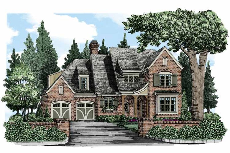 European Exterior - Front Elevation Plan #927-493 - Houseplans.com