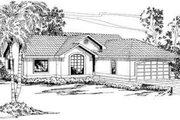 Mediterranean Style House Plan - 3 Beds 2 Baths 1542 Sq/Ft Plan #124-255 Exterior - Front Elevation