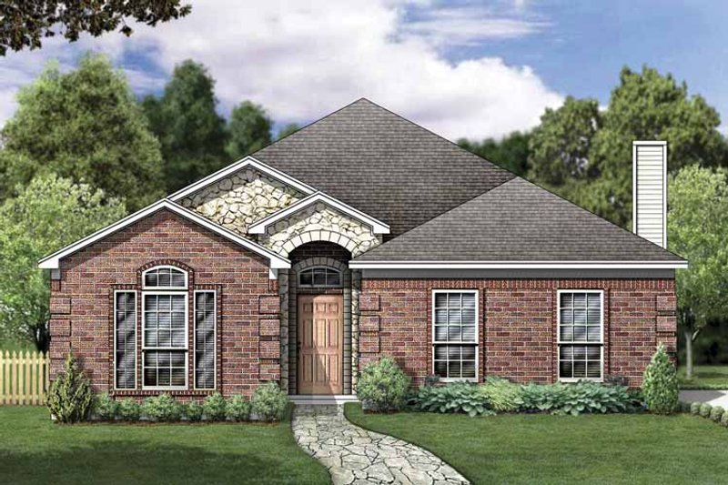 House Plan Design - Traditional Exterior - Front Elevation Plan #84-764