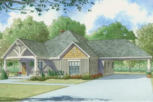 House Design - Country Exterior - Front Elevation Plan #17-3375