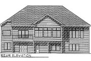 Traditional Style House Plan - 2 Beds 2 Baths 1940 Sq/Ft Plan #70-250 Exterior - Rear Elevation
