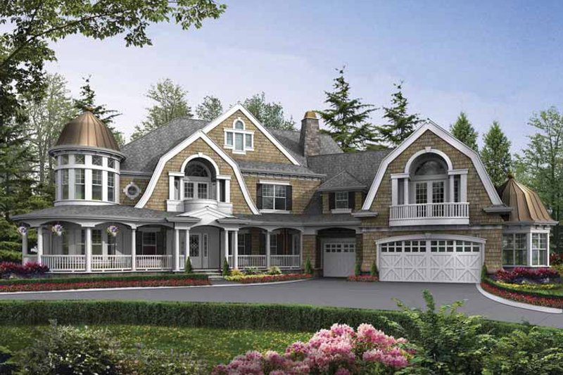 Dream House Plan - Craftsman Exterior - Front Elevation Plan #132-523
