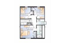 European Floor Plan - Upper Floor Plan Plan #23-2486