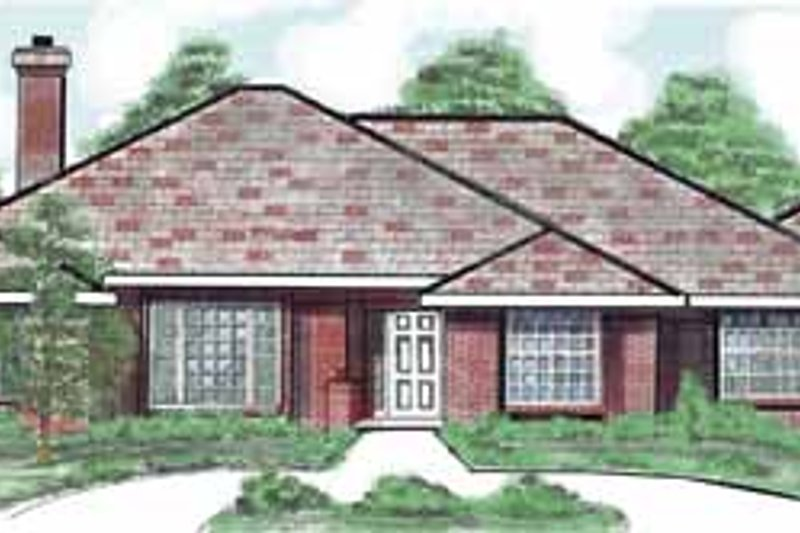 Country Exterior - Front Elevation Plan #52-287
