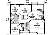 Traditional Style House Plan - 1 Beds 1 Baths 1566 Sq/Ft Plan #25-4444 Floor Plan - Main Floor Plan