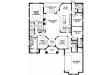 Mediterranean Floor Plan - Main Floor Plan Plan #1058-127