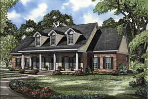House Plan Design - Colonial Exterior - Front Elevation Plan #17-2895