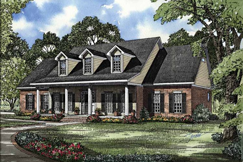 Colonial Exterior - Front Elevation Plan #17-2895