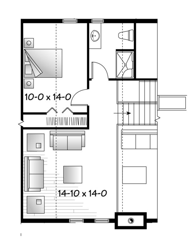 Dream House Plan - European Floor Plan - Upper Floor Plan #23-2494