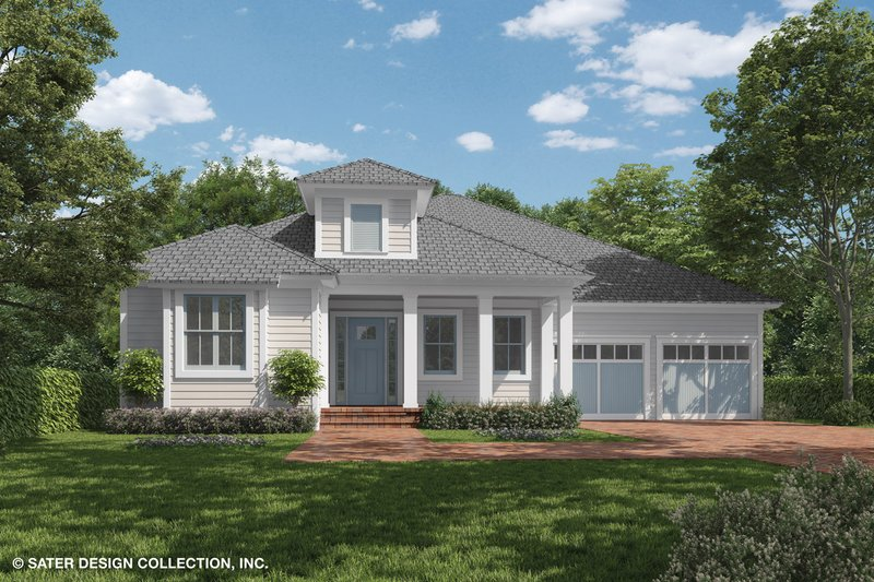 Ranch Style House Plan - 3 Beds 3.5 Baths 2743 Sq/Ft Plan #930-470 Exterior - Front Elevation
