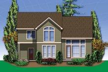 Dream House Plan - Craftsman Exterior - Rear Elevation Plan #48-109