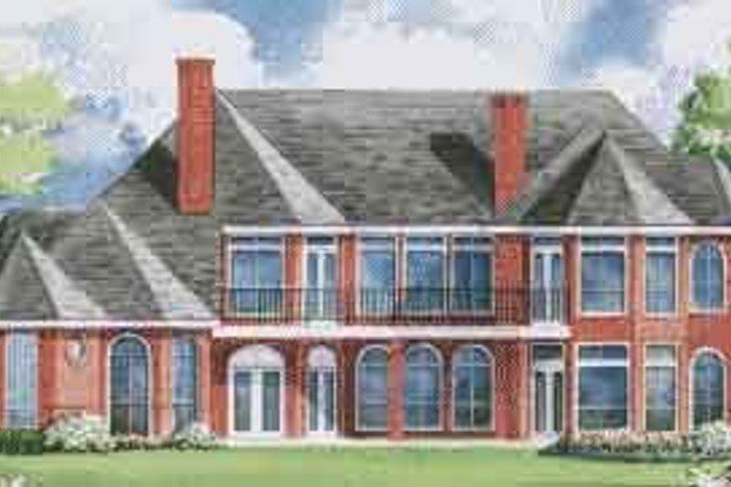 European Exterior - Rear Elevation Plan #20-1198 - Houseplans.com
