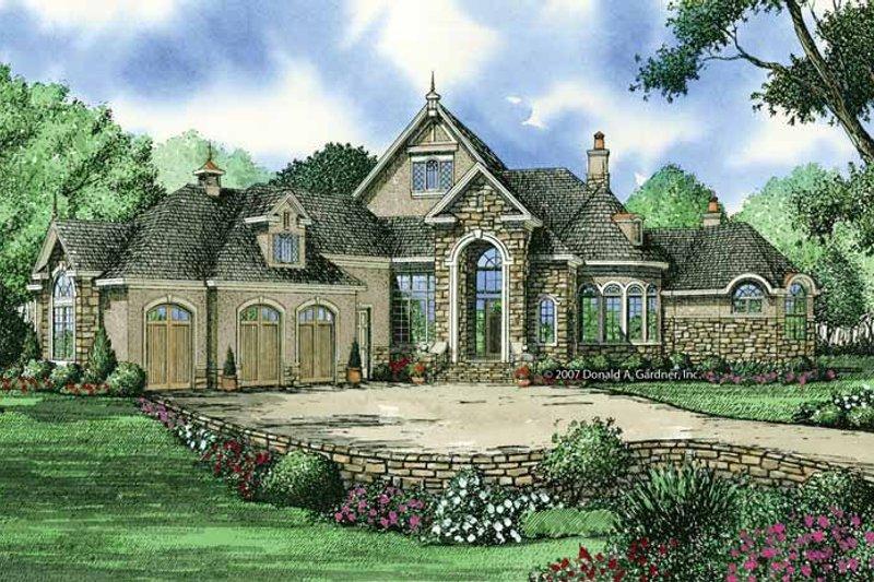 Architectural House Design - European Exterior - Front Elevation Plan #929-864