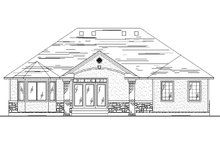Home Plan - Ranch Exterior - Rear Elevation Plan #5-241