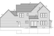 Country Style House Plan - 4 Beds 2.5 Baths 2378 Sq/Ft Plan #1010-89 Exterior - Rear Elevation
