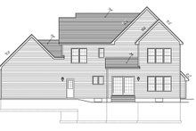 Country Exterior - Rear Elevation Plan #1010-89