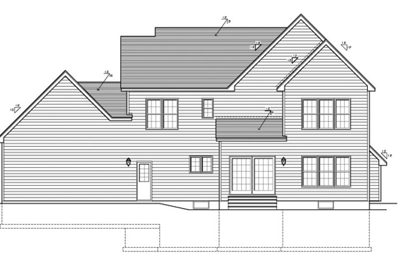Country Exterior - Rear Elevation Plan #1010-89 - Houseplans.com