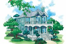 Home Plan - Country Exterior - Rear Elevation Plan #930-72