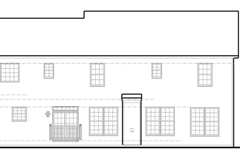 Traditional Exterior - Rear Elevation Plan #1053-55 - Houseplans.com
