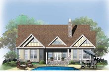 Country Exterior - Rear Elevation Plan #929-751