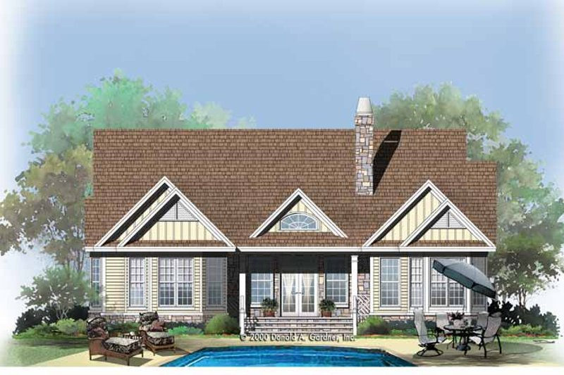 Country Exterior - Rear Elevation Plan #929-751 - Houseplans.com
