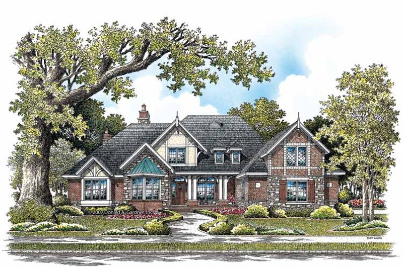 Architectural House Design - Craftsman Exterior - Front Elevation Plan #929-848