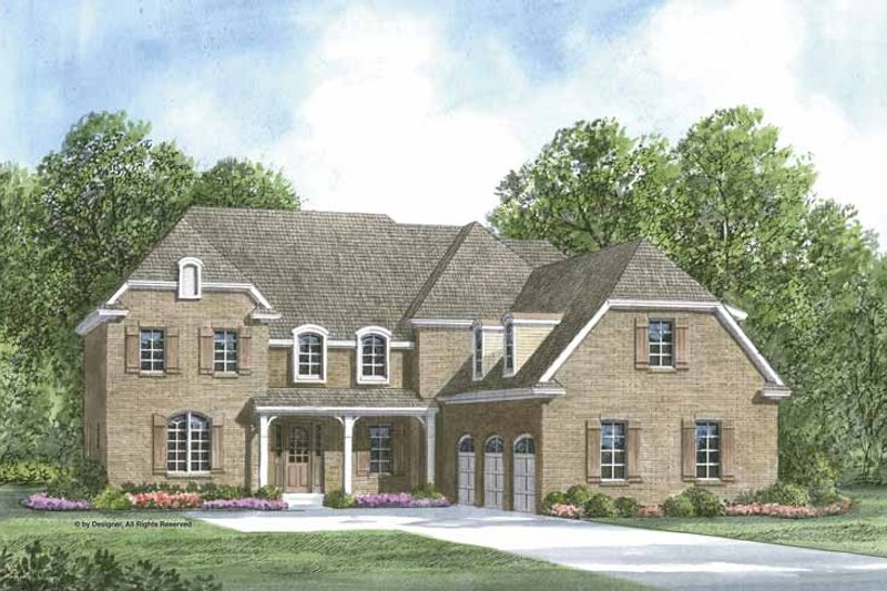 Architectural House Design - European Exterior - Front Elevation Plan #952-206