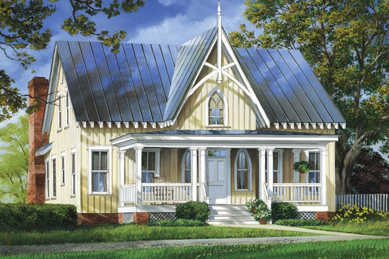 Craftsman Exterior - Front Elevation Plan #137-337 - Houseplans.com