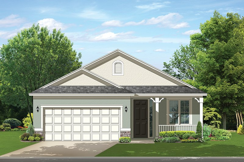 Ranch Exterior - Front Elevation Plan #1058-101 - Houseplans.com